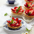 Strawberry tartlets - Foto Stock