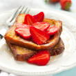 French toast with strawberry - Stock Photo