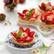 Tartlets with strawberry — Zdjęcie stockowe