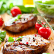 Stock Photo: Veal loin steak