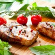 Veal loin steak — Stock Photo #10457843