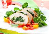 Tacchino farcito con spinaci — Foto Stock