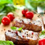 Dana fileto biftek — Stok fotoğraf