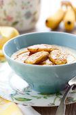 Porridge with bananas — Stock Photo