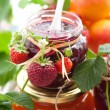 Various jams in jars — Stock Photo #10661873