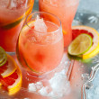Stock Photo: Pink grapefruit drinks