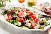 Watermelon Salad with Feta — Stock Photo