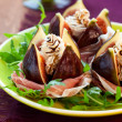 Royalty-Free Stock Photo: Figs with prosciutto,cheese and balsamic vinegar