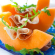 Prosciutto and melon. - Foto de Stock