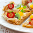 Stock Photo: Crepes with fruits