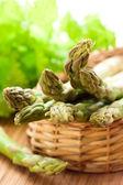 Fresh spring asparagus — Stock Photo