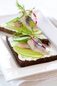 Ringa balığı sandviçi — Stok fotoğraf