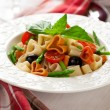Stock Photo: Heart-shaped pasta with vegetables