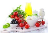 Čerstvé suroviny na salát — Stock fotografie
