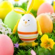 Royalty-Free Stock Photo: Colorful Easter Eggs and rabbit