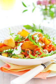 Potato salad with smoked salmon — Stock Photo