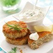 Cod Fish Cakes — Stock Photo