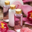 Body care products or spa still life — Stock Photo