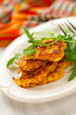 Carrot pancakes — Stockfoto