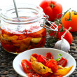 Dried tomatoes in oil — Stock Photo