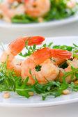 Shrimps salad — Stock Photo