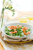 Asparagus shrimp risotto — Stock Photo