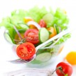 Tomato and cucumber salad — Stock fotografie