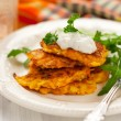 Carrot pancakes — Photo