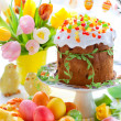 Easter cake and colourful eggs — Stock Photo #8905704