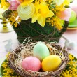 Easter table setting — Stock Photo #8979942