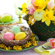 Easter table setting — Stock Photo #8979975