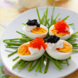 Eggs with caviar — Stock Photo