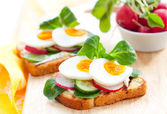 Toast sandwiches — Stock Photo