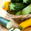 Yellow and green zucchini — Foto Stock