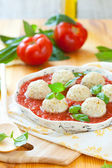 Steamed chicken meatballs — Stock fotografie