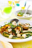 Zucchini sallad — Stockfoto