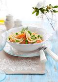 Spaghetti with salmon — Stock Photo