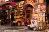 Old medina art street shop, Marrakesh, Morocco — Stock Photo