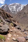 Mountain landscape, path to Toubkal — Stock Photo