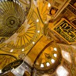 Inside of Hagia Sophia Mosque in Istanbul - Stock Photo