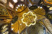 Interior of Hagia Sophia Mosque, Istanbul — Stock Photo