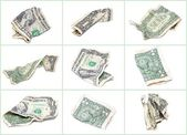 Crumpled dollar collage — Stock Photo