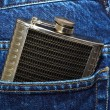 hip flask — Stock Photo