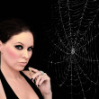 Spider woman — Stock Photo