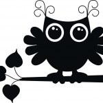 A black owl — Stock Vector
