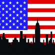 nueva york skyline — Vector de stock