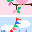 Royalty-Free Stock Vector Image: Two different owl illustrations
