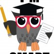 Smart owl — Vector de stock #8619130