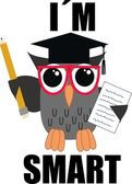 A smart owl — Stock Vector