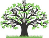 Owls in a tree — Stock Vector